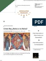 Cristo Reina o Reinara Luis Eduardo Lopez Padilla