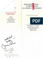 Assassination Symposium on John Kennedy 1991 Dallas Program