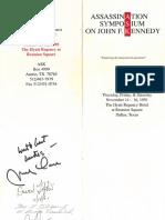 Assassination Symposium on John Kennedy 1991 Dallas Program