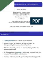 Resource theory of asymmetric distinguishability