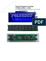 RF Signal Frequency Counter