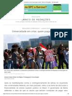 Universidade Em Crise_ Quem Paga a Conta_ - Banco de Redações - UOL Educação