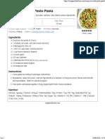 Vegan Avocado Pesto Pasta - Cozy Peach Kitchen