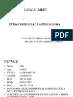 Retroperitoneal lymphangioma