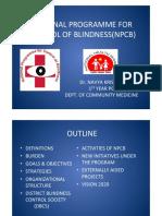 Navya Krishna-national Programme for Control of Blindness