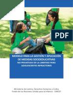 Modelo Para La Gestion y Aplicacion Medidas No Privativas