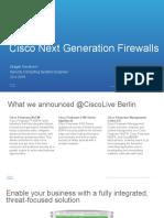 Cisco Next Generation Firewalls