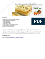 Torta de Grão de Bico (Vegan)