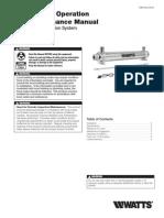 Model WUV-2,6,8,12 Installation Instructions