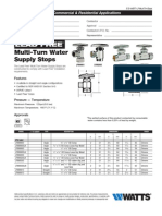 KwikStop Quarter-Turn Water Supply Stops Specification Sheet