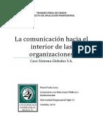 La Comunicación Hacia El Interior de Las Organizaciones, Caso Sistemas Globales
