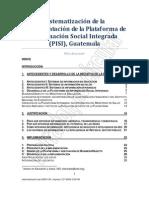 Sistematización PISI 20091130