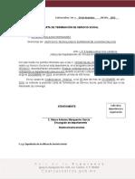 Itesco Vi Po 002 08 Carta de Terminacion Servicio