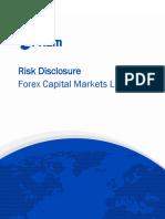 Risk disclosure fx