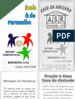 CASA DA AMIZADE ROTARY CLUB DE PARANAÍBA