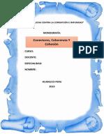 COHESION, CONECCCION, DE TEXTO