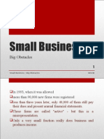 Small Business Big Obstacle