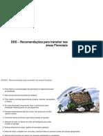 DDS - Recomendações Para Transitar Nas Áreas Florestais