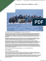 Europa Cruza Os Braços Para o Drama Dos Refugiados - Outras Palavras