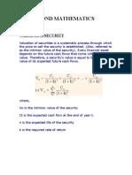 Que 5 --Bond Mathematics (2)