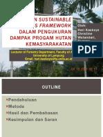 Hari Kaskoyo_Penggunaan Sustainable Livelihood Framework Dalam Kehutanan Masyarakat