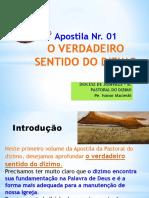 _ Apostila Nr. 01 O VERDADEIRO SENTIDO DO DIZIMO. DIOCESE DE JOINVILLE SC PASTORAL DO DIZIMO Pe. Ivanor Macieski.pdf