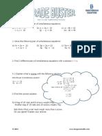 B Simultaneous Equations