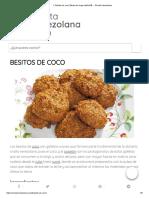 ▷ Besitos de coco【dulce de larga tradición】 » Receta Venezolana