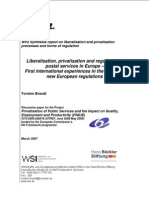 Liberalisation, privatisation, and regulation of postal services in Europe