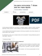 Leitura Dinâmica Para Concursos_ 7 Dicas Profissionais Para Ler Mais Rápido