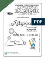 Formulario Algebraico - resumido