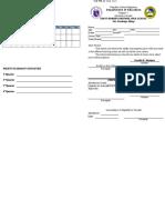 Shs Form 138