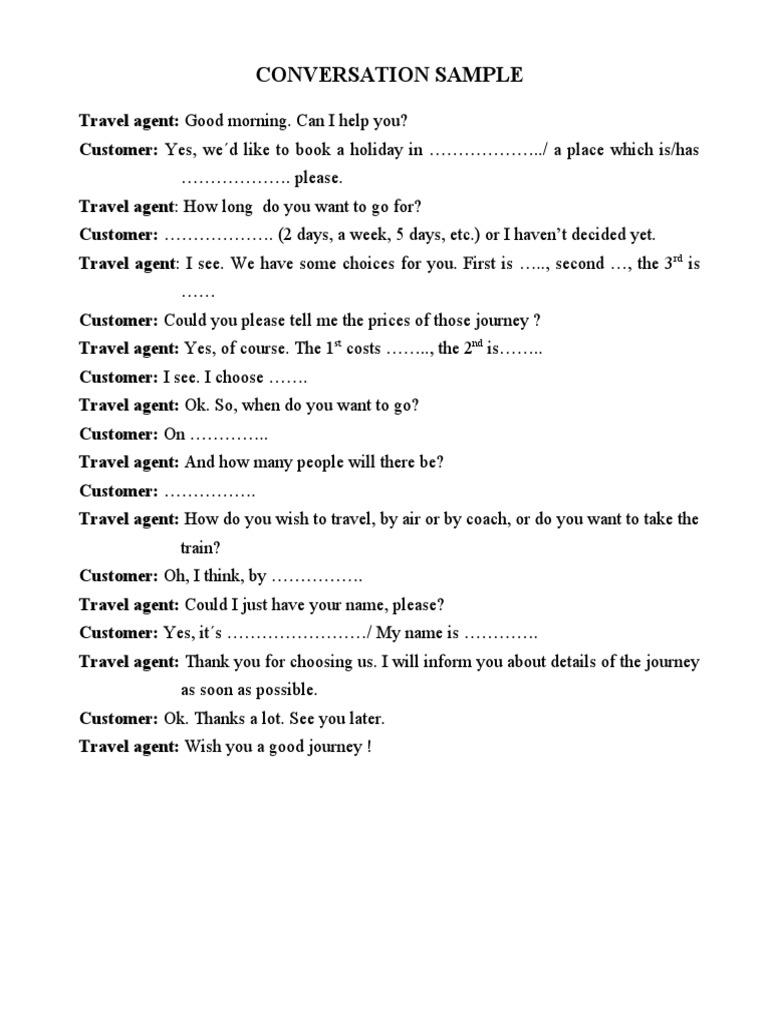 Sample Script For Travel Agency
