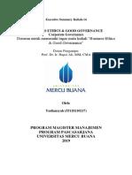 14, BE & GG, Yudiansyah,Hapzi Ali, Corporate Governance, Universitas Mercu Buana, 2019