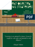 Student Directed Learning Strategies