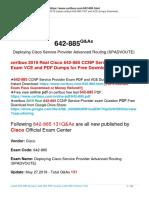 Free Certbus Cisco 642-885 PDF and Exam Questions Download 100% Pass Exam