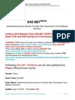 New Released Free Update of Cisco 642-887 Exam Practice Materials in Certbus