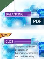 Machine Balancing