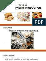 Lesson 3-Maintain of Tools & Equipment