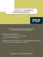 Principles of Business Correspondence Letters