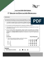 Prueba Evaluacion Interna Sexto Primaria