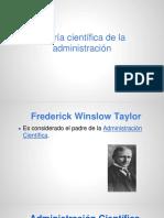 Teoria Cientifica de La Administracion- Taylor 15-9-14 (1)