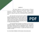 Abstrac about oral prensentation