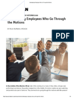 Sidestepping Employees Who Go Through the Motions