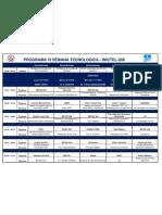 EVENTO Programa VI Semana Tecnologica - InICTEL-UNI