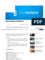 Www Tecmundo Com Br Windows 7 1392 Lista de Atalhos Do Windo