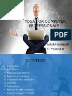 Yoga for Computer Professionals