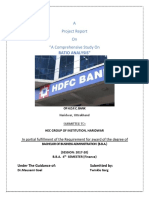 HDFC Ratio analysis study
