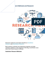 Types of Research Methods and Research Example