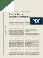 How Internet Promoted Development